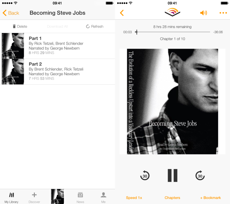 steve jobs audible