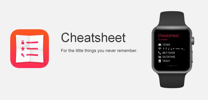 Cheatsheet iOS Apple Watch