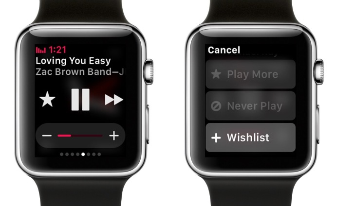 apple watch itunes radio