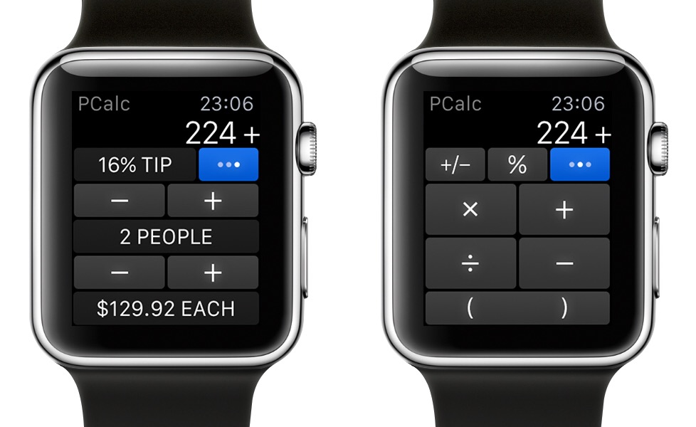 PCalc Apple Watch 1
