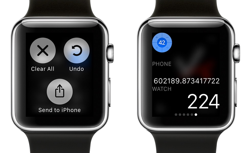 PCalc Apple Watch 2