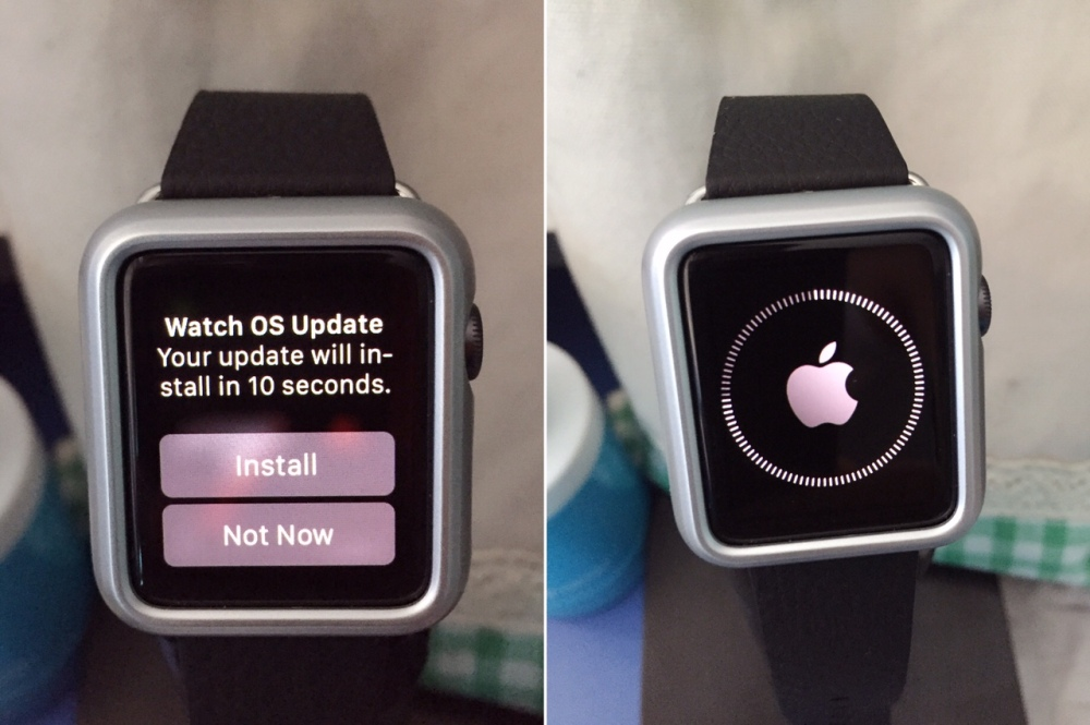 Apple Watch OS update 1.0.1 watch screen