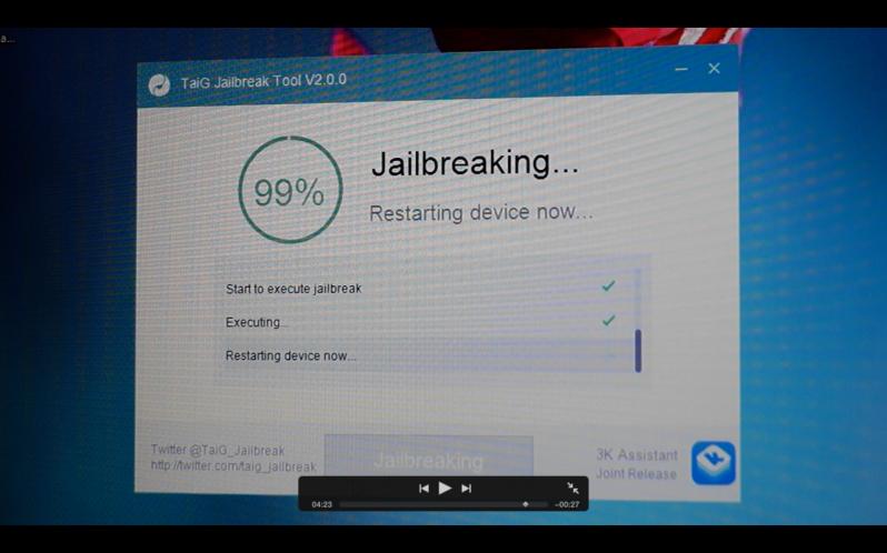 TaiG iOS 8.3 jailbreak 12