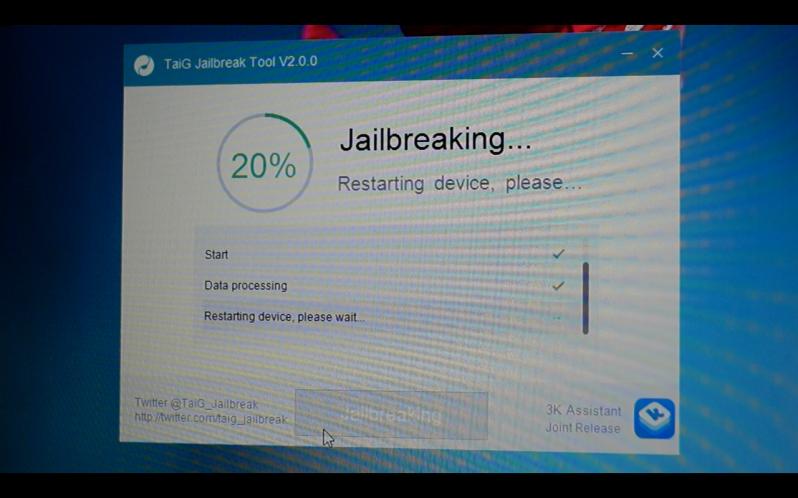 TaiG iOS 8.3 jailbreak 2