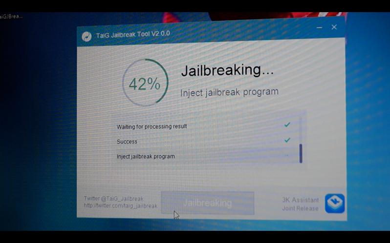 TaiG iOS 8.3 jailbreak 7