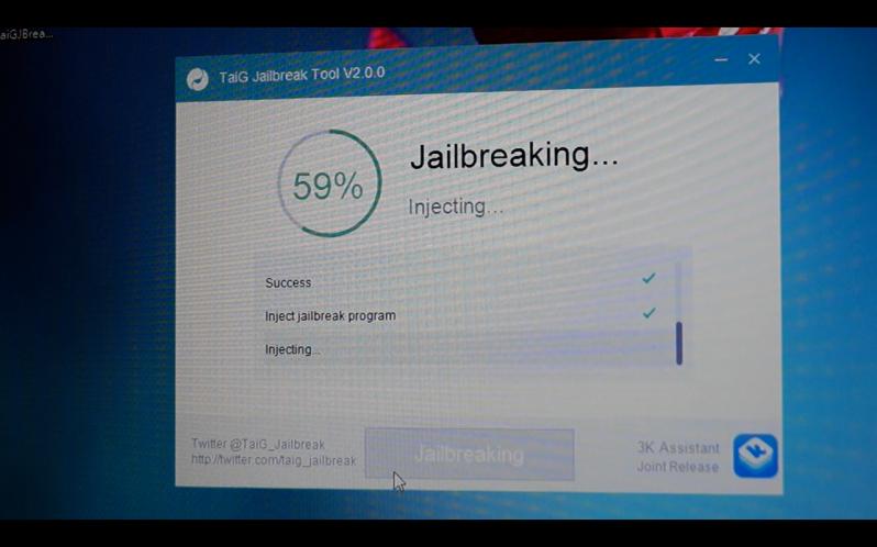 TaiG iOS 8.3 jailbreak 8