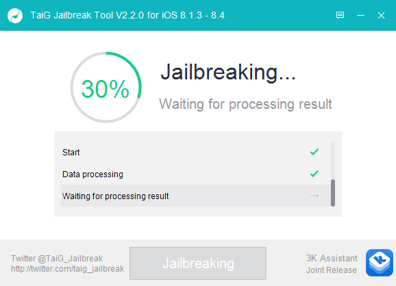 TaiG iOS 8.4 Jailbreak 3