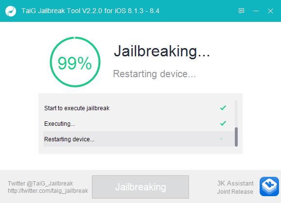 TaiG iOS 8.4 Jailbreak 7