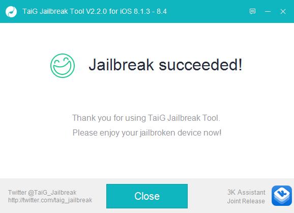 TaiG iOS 8.4 Jailbreak 8