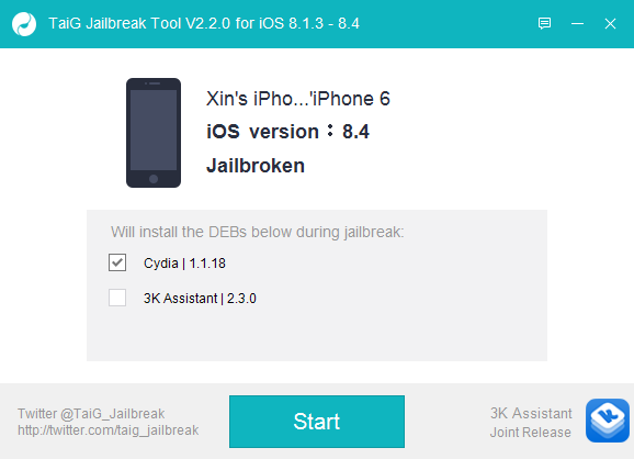 TaiG iOS 8.4 Jailbreak 9