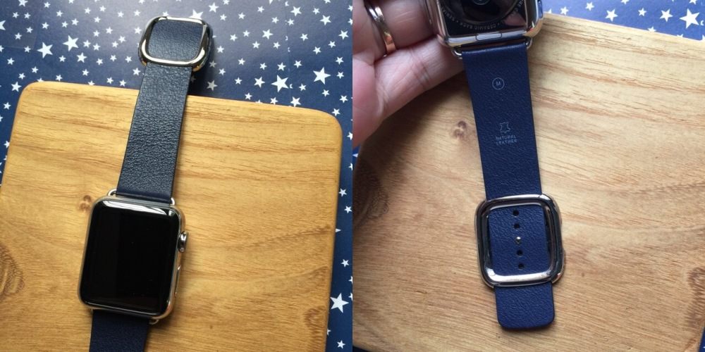 apple watch modern buckle blue