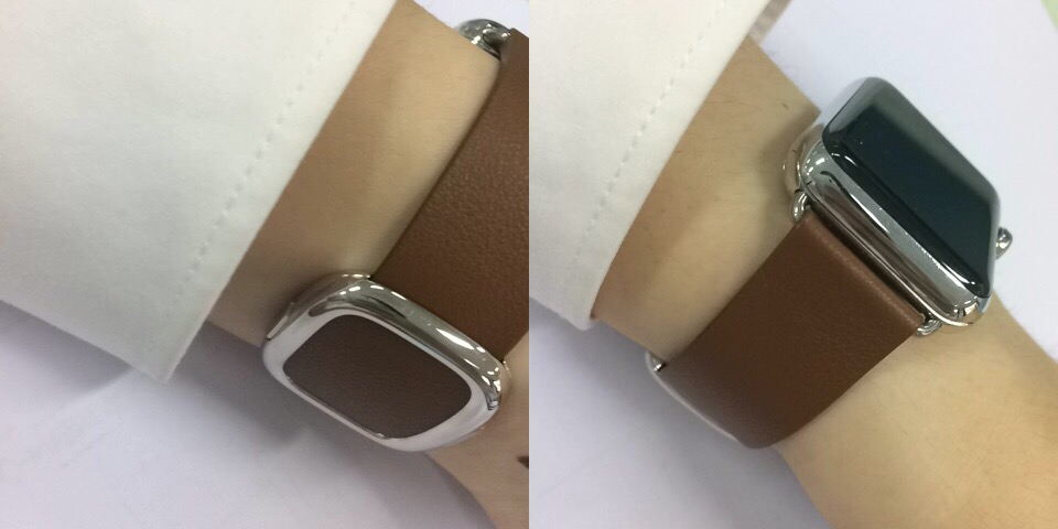 apple watch modern buckle brown