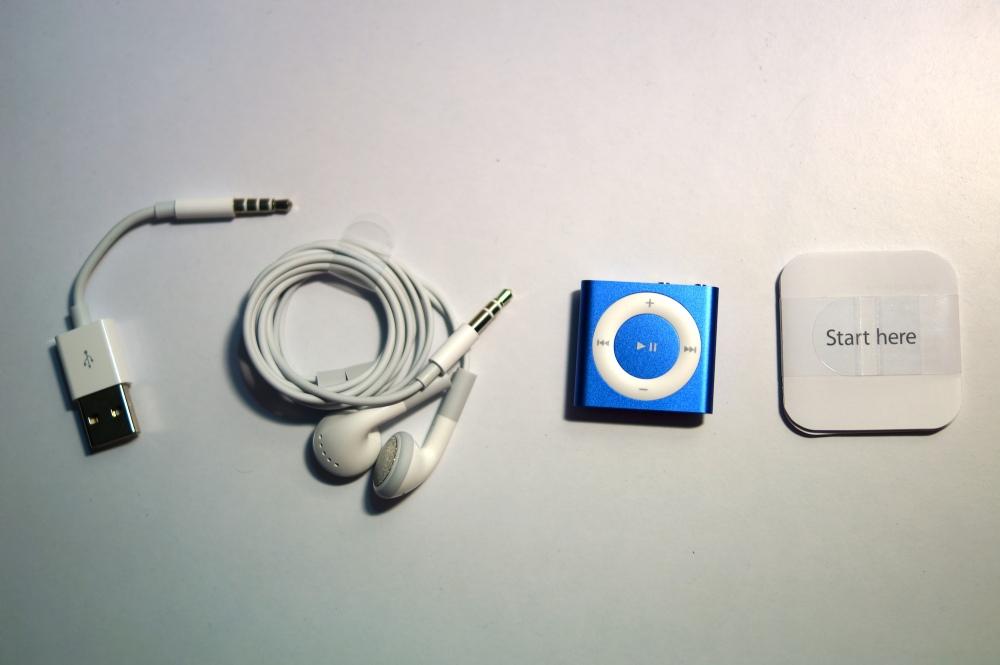 unbox apple ipod shuffle