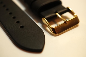 Monowear Black Leather + Gold Buckle 04