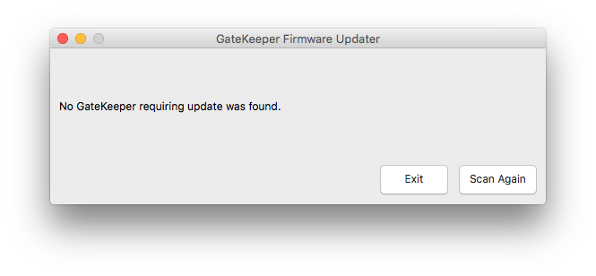 Gatekeeper firmware update