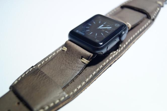 BuonGustoItaliano Handmade Leather Cuff Apple Watch Band 05