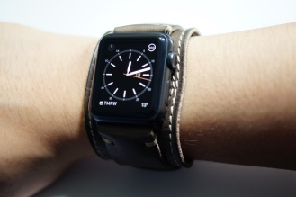 BuonGustoItaliano Handmade Leather Cuff Apple Watch Band 08