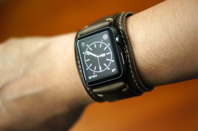 BuonGustoItaliano Handmade Leather Cuff Apple Watch Band 16
