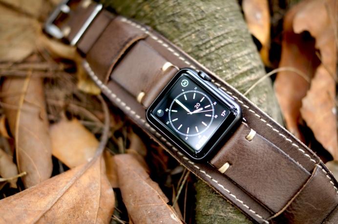 BuonGustoItaliano Handmade Leather Cuff Apple Watch Band 17