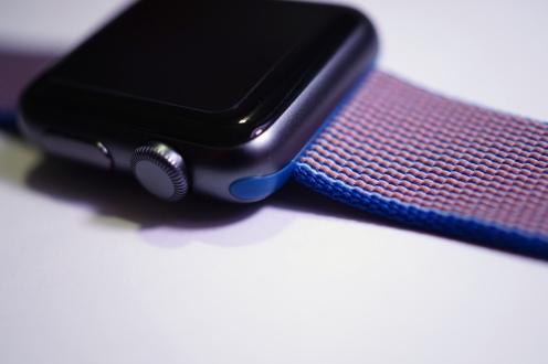 Apple Nylon Watch Band Royal Blue 22