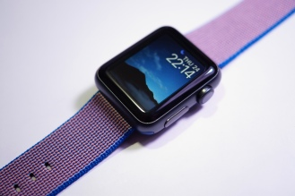 Apple Nylon Watch Band Royal Blue 25