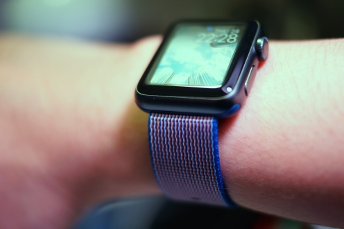Apple Nylon Watch Band Royal Blue 29