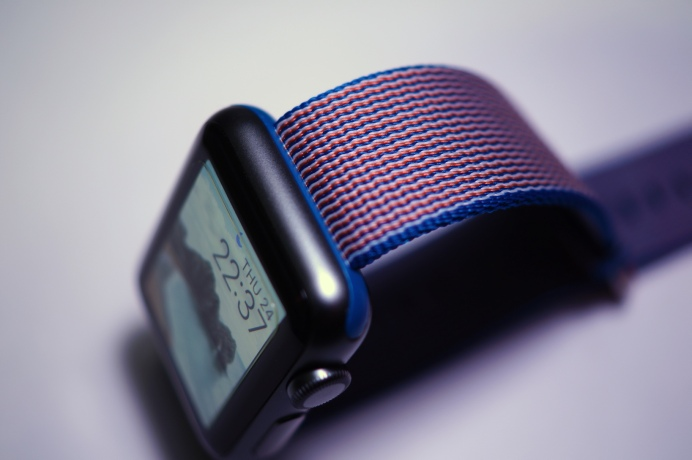 Apple Nylon Watch Band Royal Blue 34