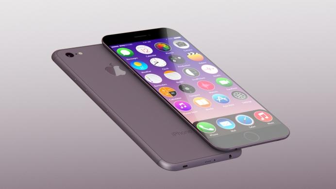 iphone 7 purple render