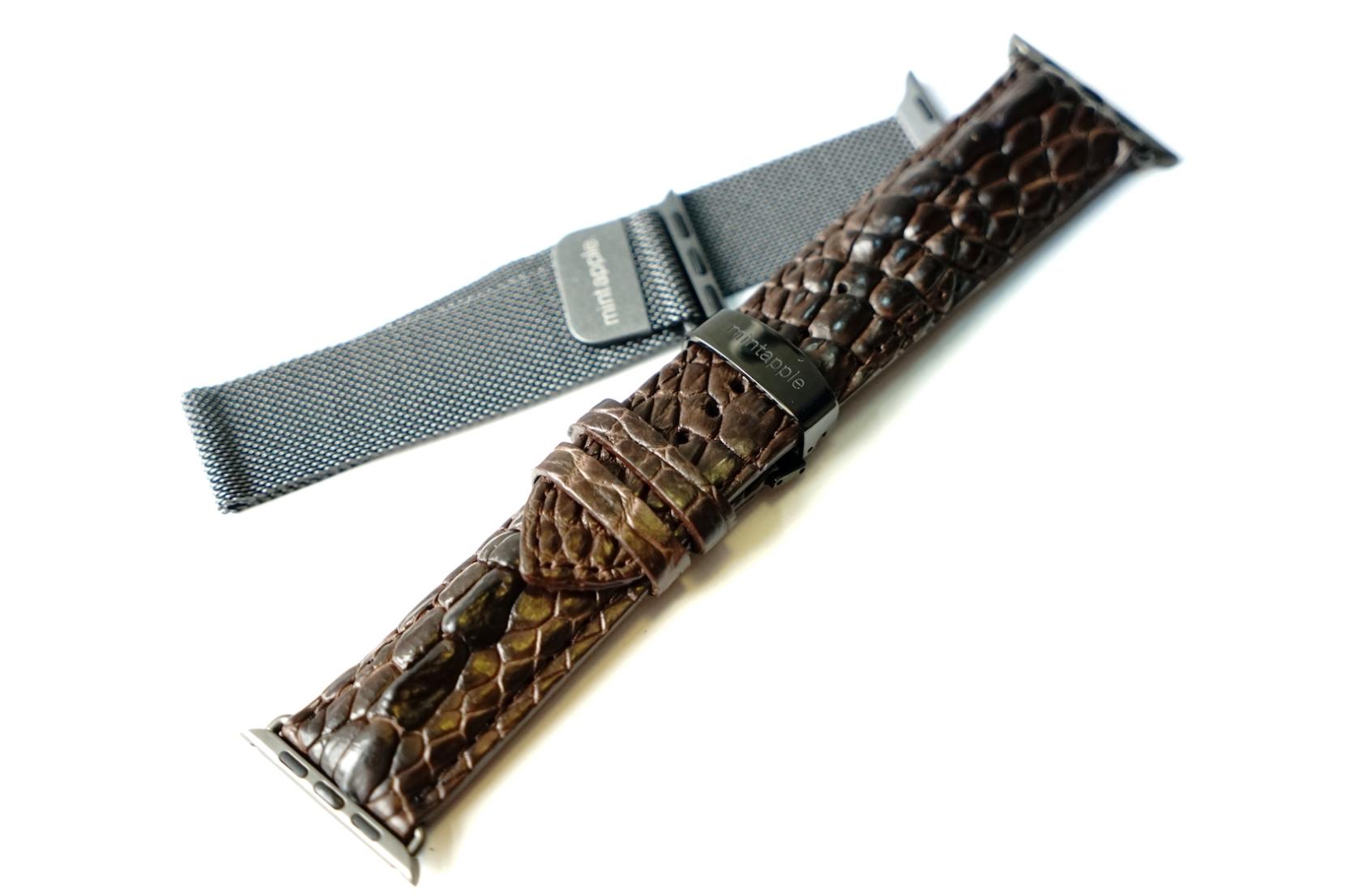 Mintapple Milanese Loop and Genuine Crocodile Apple Watch Straps 2