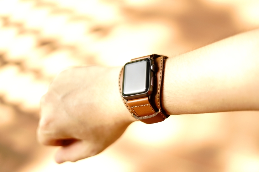 Black Forest Leather Cuff C3 03