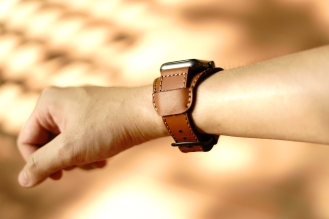 Black Forest Leather Cuff C3 07